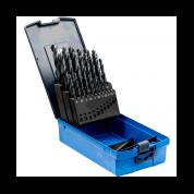 25 dalių metalo grąžtų rinkinys plienui PFERD DIN338 HSSG N 1-13