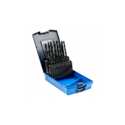 19 dalių metalo grąžtų rinkinys plienui PFERD DIN338 HSSG N 1-10