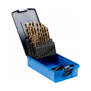 25 dalių metalo grąžtų rinkinys PFERD DIN338 HSSE N 1-13 Inox su priedu