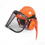 Apsauginis šalmas su veido ir ausų apsauga HECHT 900100